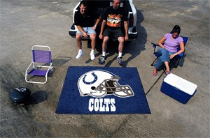Large Indianapolis Colts Logo Area Rug