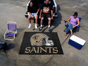Large New Orleans Saints Logo Area Rug