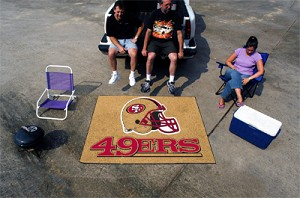 Large San Francisco 49Ers Logo Area Rug
