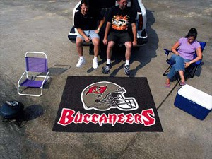 Large Tampa Bay Buccaneers Logo Area Rug