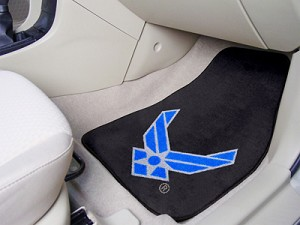 Air Force Falcons Universal Carpet Vehicle Floor Mat, Set Of 2