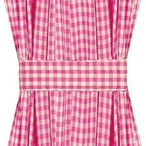 Fuchsia Gingham Check French Door Curtains