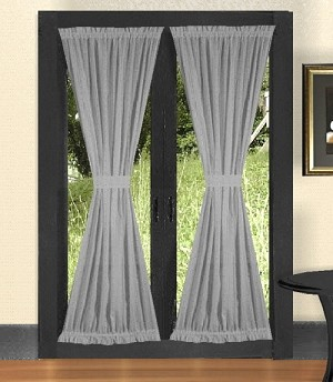 Light Silver French Door Curtains
