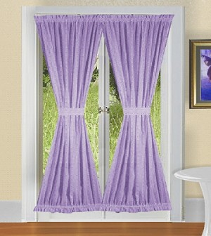 Lilac French Door Curtains