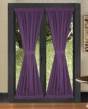 Purple French Door Curtains
