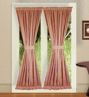 Rose French Door Curtains