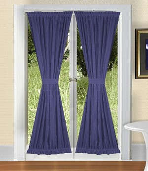 Royal Blue French Door Curtains
