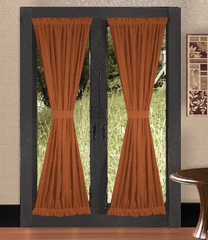 Rust French Door Curtains