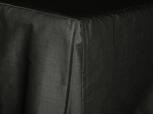 Olympic Queen Black Tailored Dustruffle Bedskirt