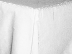 California King Bright White Tailored Dustruffle Bedskirt