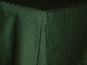 California King Dark Forest Green Tailored Dustruffle Bedskirt