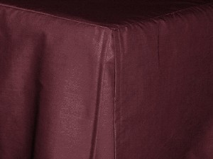 California King Dark Wine Tailored Dustruffle Bedskirt