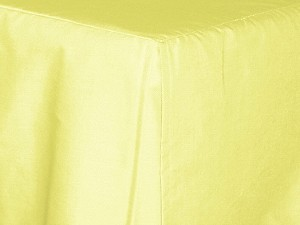 Olympic Queen Light Yellow Tailored Dustruffle Bedskirt