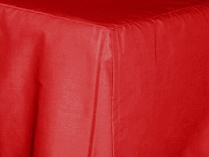 Full/Double Red Tailored Dustruffle Bedskirt