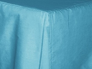 California King Turquoise Tailored Dustruffle Bedskirt