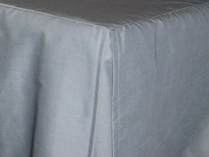 Olympic Queen Wedgewood Blue Tailored Dustruffle Bedskirt