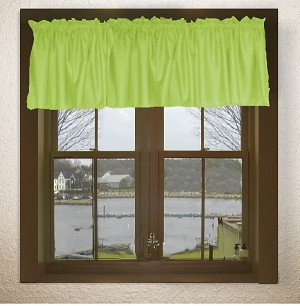 Lime Green Window Valances