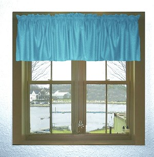 Turquoise Window Valance