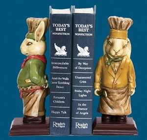 Chef Bunny Bookends