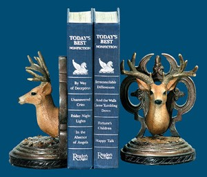 Pair Deer Head Bookends