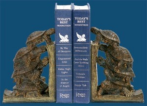 Tower Of Turtles Bookends