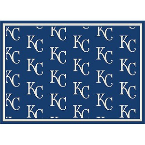 Kansas City Royals Repeat Logo Area Rug