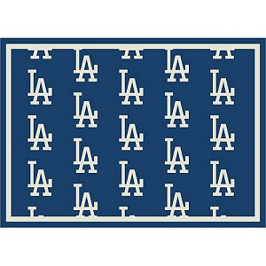 Los Angeles Dodgers Repeat Logo Area Rug