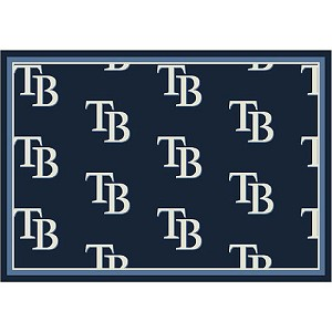 Tampa Bay Rays Repeat Logo Area Rug