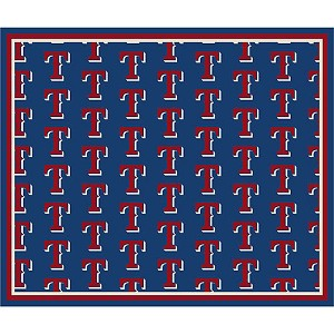 Texas Rangers Repeat Logo Area Rug