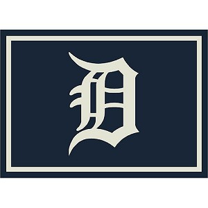 Detroit Tigers Team Logo Area Rug