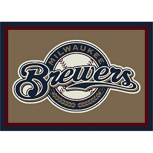 Milwaukee Brewers Team Logo Area Rug