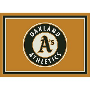 Oakland Athletics Team Logo Area Rug