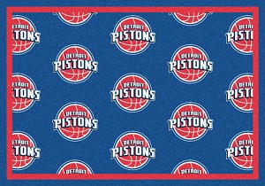 Detroit Pistons Repeat Logo Area Rug