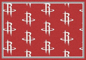 Houston Rockets Repeat Logo Area Rug