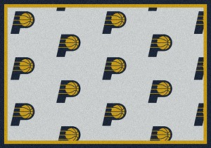 Indiana Pacers Repeat Logo Area Rug