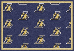 Los Angeles Lakers Repeat Logo Area Rug