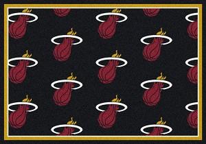 Miami Heat Repeat Logo Area Rug