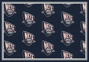 New Jersey Nets Repeat Logo Area Rug