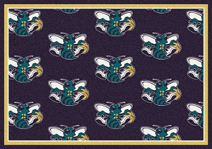 New Orleans Hornets Repeat Logo Area Rug