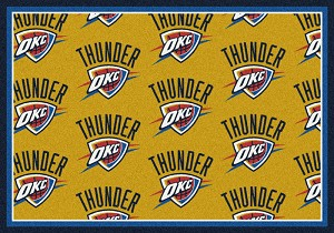 Oklahoma City Thunder Repeat Logo Area Rug
