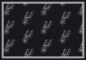 San Antonio Spurs Repeat Logo Area Rug