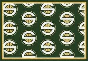 Seattle Supersonics Repeat Logo Area Rug