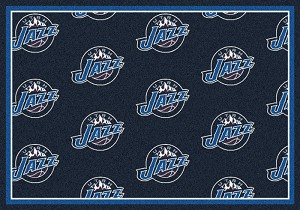 Utah Jazz Repeat Logo Area Rug