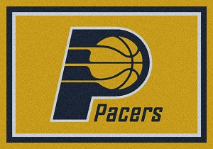 Indiana Pacers Team Logo Area Rug