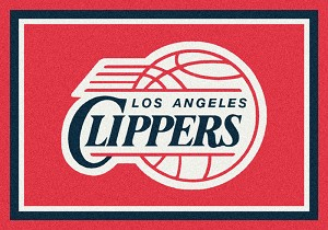 Los Angeles Clippers Team Logo Area Rug