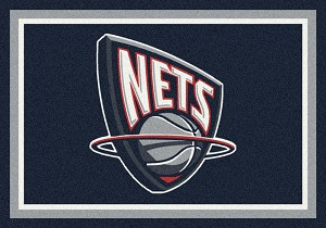 New Jersey Nets Team Logo Area Rug