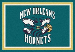 New Orleans Hornets Team Logo Area Rug