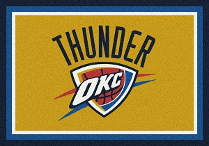 Oklahoma City Thunder Team Logo Area Rug