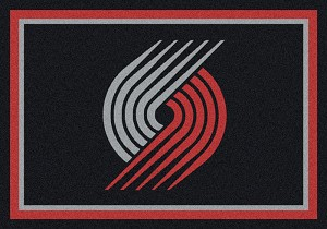 Portland Trailblazers Team Logo Area Rug