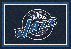 Utah Jazz Team Logo Area Rug